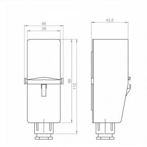 Nalijegajući termostat za unutarnju montažu-ANDANTH4