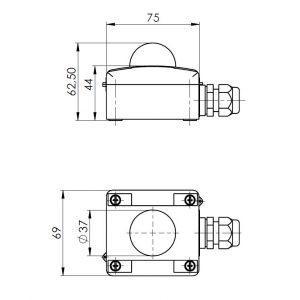 Osjetnik zračenja – vanjska montaža-ANDASTF-2