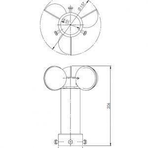 Senzor za brzinu vjetra ANDWM1-2