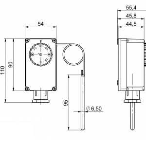 Uranjajući termostat s udaljenom sondom- jednostupanjski-ANDKTTH2-2