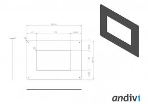 Kutija za zaslon na dodir_touchscreen_Montaza na elektro ormaric