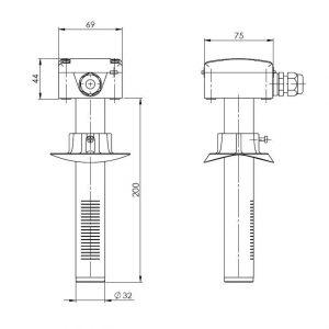 Modbus kanalski osjetnik kvalitete zraka - ANDKALQ-MD 2