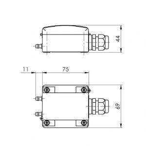 Modbus mjerni pretvarač diferencijalnog tlaka - ANDDDMU-MD 2