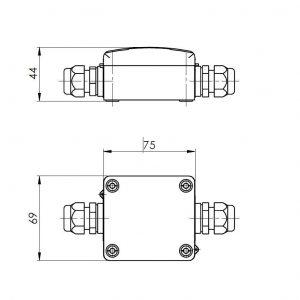 Modbus mjerni pretvarač temperature za PT1000 - ANDMDG 2