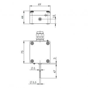 Modbus vanjski osjetnik temperature s užom vanjskom sondom - ANDAUTFEXTS-MD 2