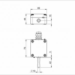 Modbus vanjski osjetnik temperature sa zaštitom od sunčevog zračenja - ANDAUTFEXT2-MD 2