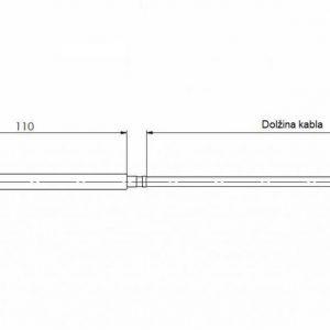 Modbus viseći prostorni osjetnik temperature - ANDRPF-MD 2