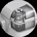 Brzo odvijanje / odvrnite poklopac senzora sa samo 1/4 okreta.