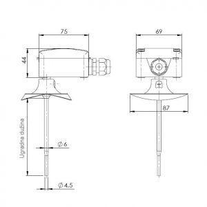 Kanalski osjetnik temperature-hitroreakcijski-ANDKNTFS-3
