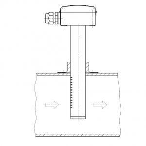 Kanalski osjetnik za mjerenje ugljičnog dioksida-ANDKACO2-3