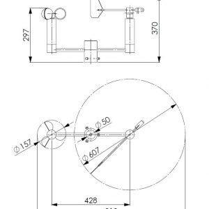 Kombinirani senzor za brzinu i smjer vjetra ANDWM3-2