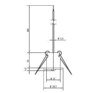 Osjetnik temperature za ugradnju u strop-ANDDEBF-2