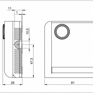 Prostorni higrostat za unutranju ili vanjsku montažu- ANDRHY-2
