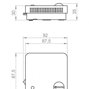 Prostorni osjetnik temperature s elementima za posluživanje (nadžbukni)-ANDRTF3XXX-2