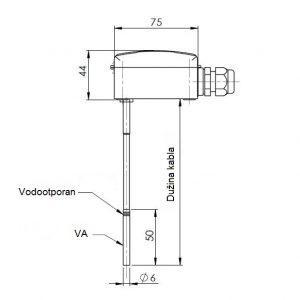 Uranjajući osjetnik temperature sa fleksibilnim silikonskim kablom-ANDKNTFF-2