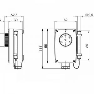 Uranjajući termostat s udaljenom sondom-jednostupanjski-ANDKTTH1-2