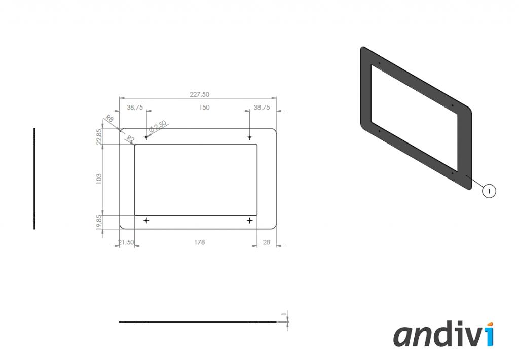 Kutija za zaslon na dodir_touchscreen_Montaza na zid