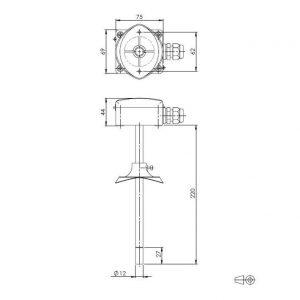 Modbus kombinirani kanalski osjetnik temperature i relativne vlažnosti - ANDKFFT-R-MD-S 2