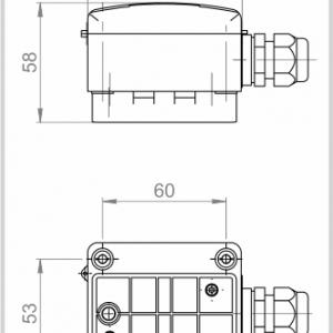 Modbus nalijegajući osjetnik temperature u kućištu - ANDANTF1-MD 2