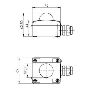 Modbus osjetnik zračenja vanjska montaža - ANDASTF-MD 2