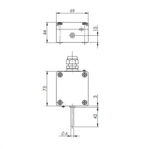 Modbus vanjski osjetnik temperature s vanjskom sondom - ANDAUTFEXT-MD 2