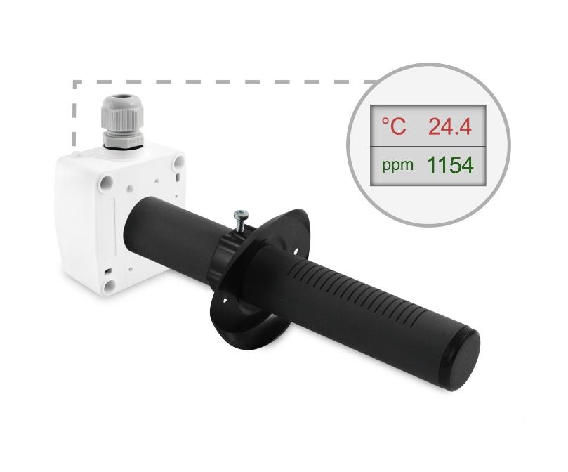 Kanalski senzor za CO2 ANDKACO2 LCD display ppm temp