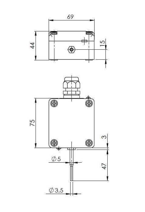 Modbus vanjski senzor temperature s užom vanjskom sondom ANDAUTFEXTS/MD - 3