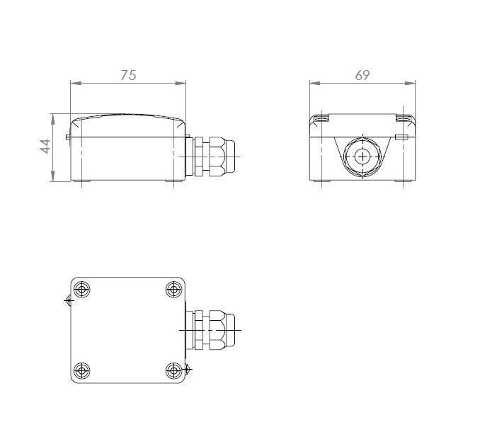 Modbus kabelni temperaturni senzor ANDKBTFMD tehnička