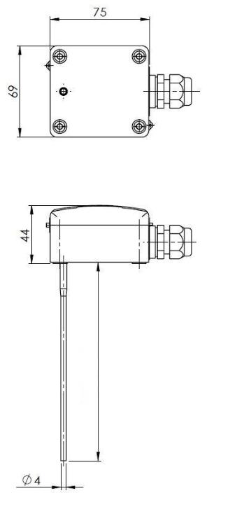 Modbus kanalski senzor temperature za mjerenje srednje vrednosti ANDMWTFMD tehnička