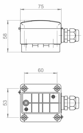 Modbus nalijegajući senzor temperature ANDANTF1MD tehnička