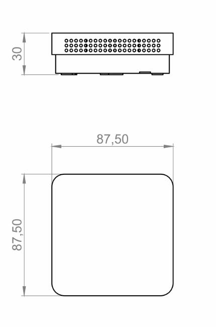 Modbus sobni senzor relativne vlažnosti i temperature ANDRFFTR-MDS tehnička