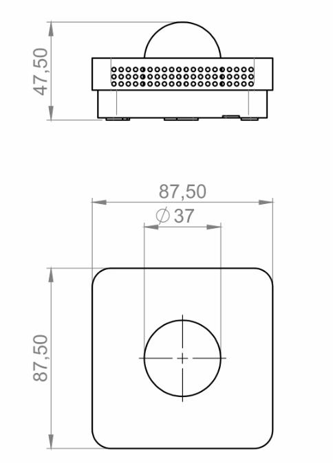 Modbus unutarnji senzor zračenja ANDRSTFMD tehnička
