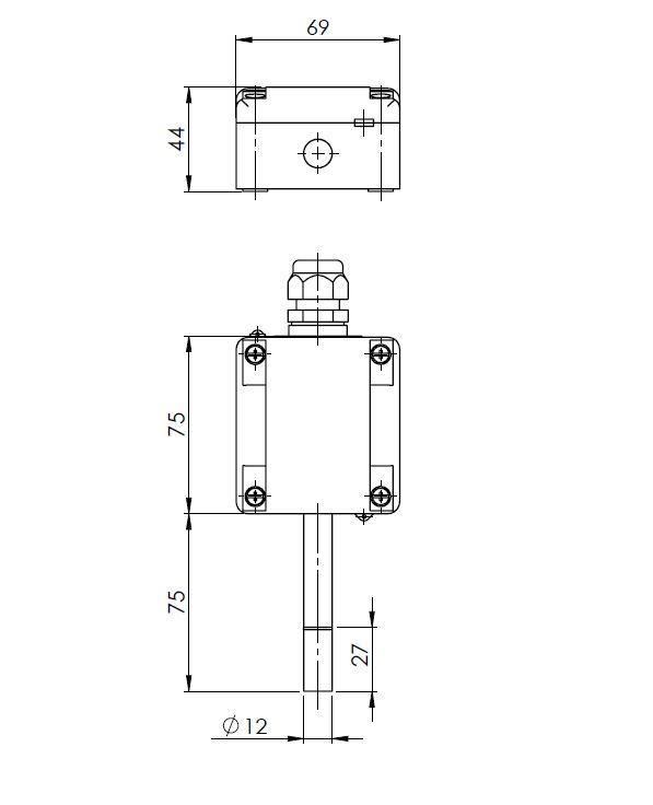 Modbus vanjski senzor temperature i relativne vlažnosti ANDARFTR-MDS tehnička