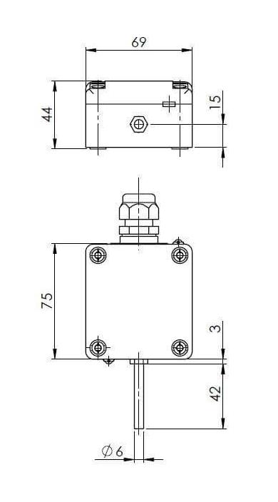 Modbus vanjski senzor temperature s vanjskom sondom ANDAUTFEXTMD tehnička
