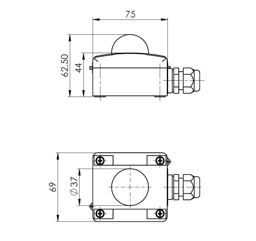 Modbus vanjski senzor zračenja ANDASTFMD tehnička
