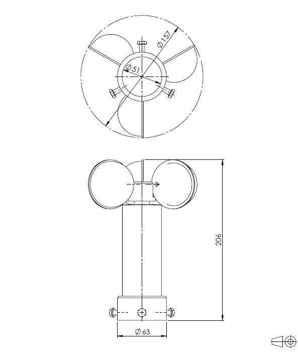 Senzor za brzinu vjetra ANDWM1 tehnička