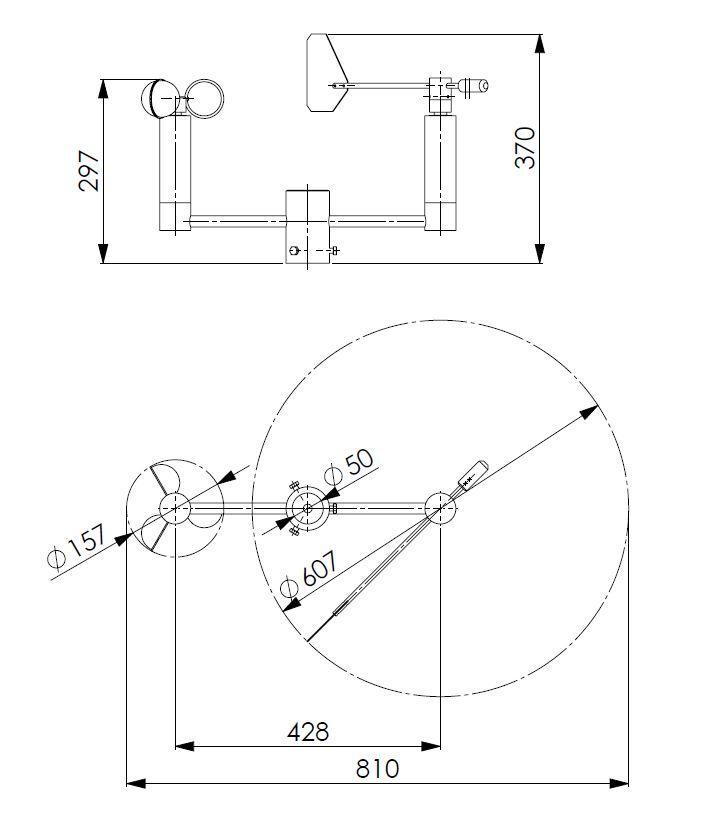 Senzor za brzinu vjetra i smjer vjetra ANDWM3 tehnička